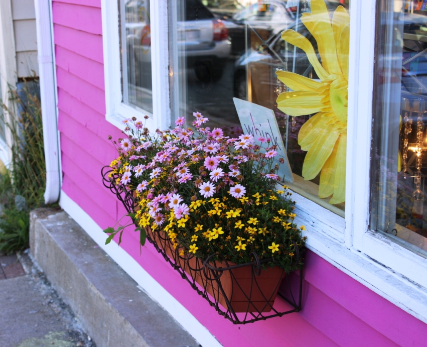 cheery storefront planter