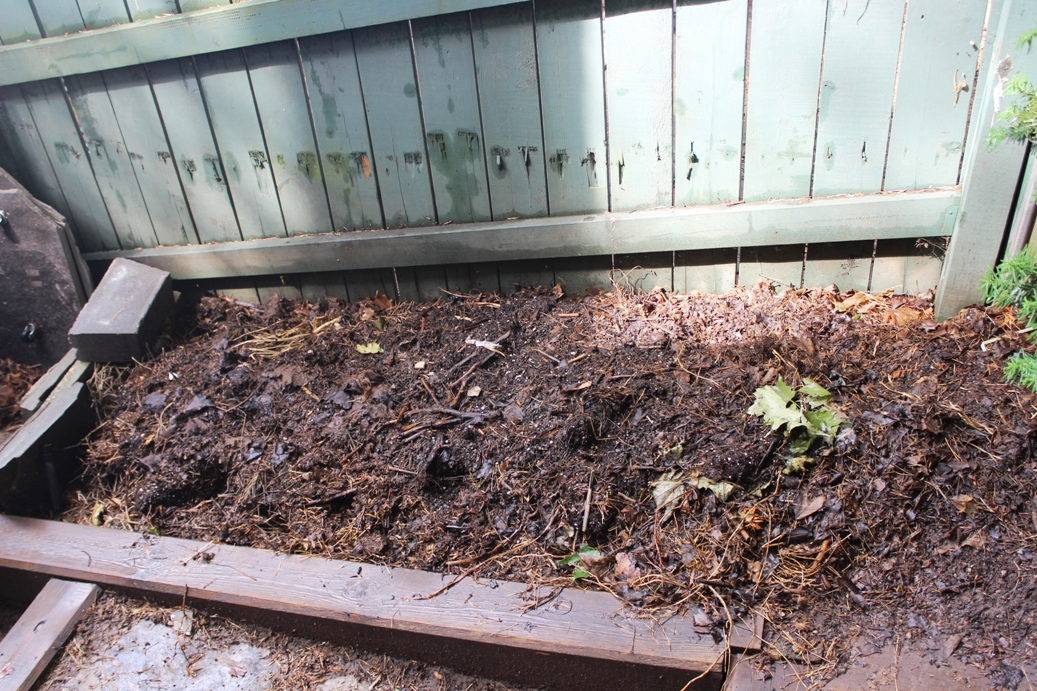 Open compost pile